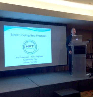 Joe Fetterman, provided a presentation on the importance of Blister Tooling and Packaging Design